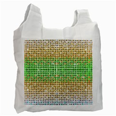 Diamond Cluster Color Bling Single Sided Reusable Shopping Bag by artattack4all