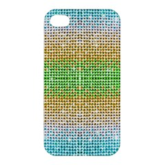Diamond Cluster Color Bling Apple Iphone 4/4s Hardshell Case by artattack4all