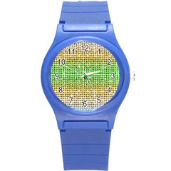 Diamond Cluster Color Bling Round Plastic Sport Watch Small by artattack4all