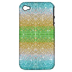 Diamond Cluster Color Bling Apple Iphone 4/4s Hardshell Case (pc+silicone) by artattack4all