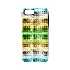 Diamond Cluster Color Bling Apple Iphone 5 Classic Hardshell Case (pc+silicone) by artattack4all