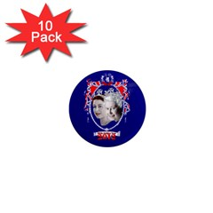 Queen Elizabeth 2012 Jubilee Year 10 Pack Mini Magnet (round) by artattack4all