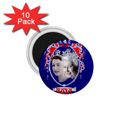 Queen Elizabeth 2012 Jubilee Year 10 Pack Small Magnet (round) by artattack4all