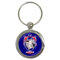 Queen Elizabeth 2012 Jubilee Year Key Chain (round) by artattack4all