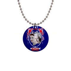 Queen Elizabeth 2012 Jubilee Year Mini Button Necklace by artattack4all