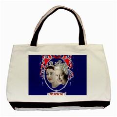 Queen Elizabeth 2012 Jubilee Year Black Tote Bag by artattack4all