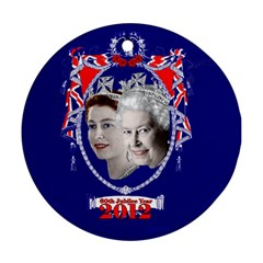 Queen Elizabeth 2012 Jubilee Year Twin Sided Ceramic Ornament (round) by artattack4all