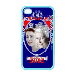 Queen Elizabeth 2012 Jubilee Year Apple Iphone 4 Case (color)