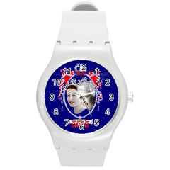Queen Elizabeth 2012 Jubilee Year Round Plastic Sport Watch Medium by artattack4all