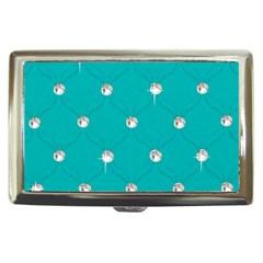 Turquoise Diamond Bling Cigarette Box by artattack4all