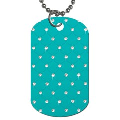 Turquoise Diamond Bling Twin Sided Dog Tag by artattack4all