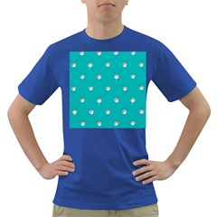 Turquoise Diamond Bling Colored Mens'' T Shirt