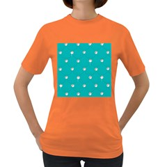 Turquoise Diamond Bling Dark Colored Womens'' T Shirt by artattack4all