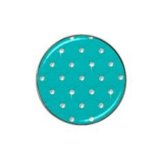 Turquoise Diamond Bling 10 Pack Golf Ball Marker (for Hat Clip) by artattack4all
