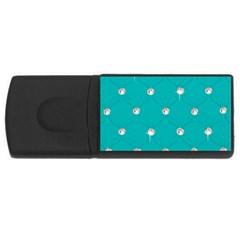 Turquoise Diamond Bling 4gb Usb Flash Drive (rectangle) by artattack4all