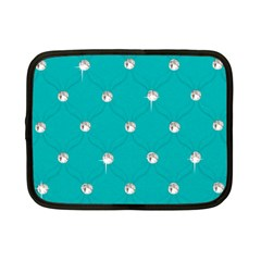 Turquoise Diamond Bling 7  Netbook Case by artattack4all