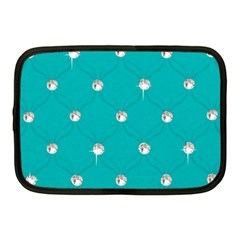 Turquoise Diamond Bling 10  Netbook Case by artattack4all