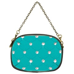 Turquoise Diamond Bling Single Sided Evening Purse by artattack4all
