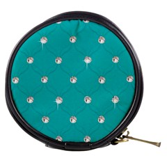 Turquoise Diamond Bling Mini Makeup Case by artattack4all