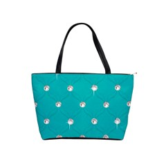 Turquoise Diamond Bling Large Shoulder Bag by artattack4all