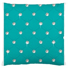 Turquoise Diamond Bling Large Cushion Case (two Sides) by artattack4all