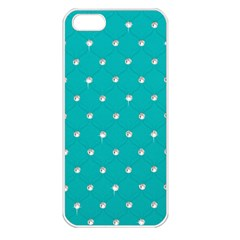 Turquoise Diamond Bling Apple Iphone 5 Seamless Case (white) by artattack4all