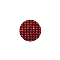 Deep Red Sparkle Bling Mini Button (round) by artattack4all