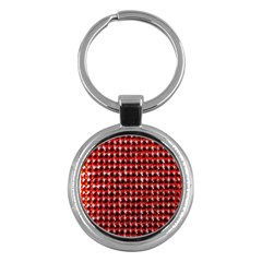 Deep Red Sparkle Bling Key Chain (round) by artattack4all