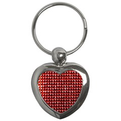 Deep Red Sparkle Bling Key Chain (heart) by artattack4all