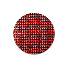 Deep Red Sparkle Bling Large Sticker Magnet (round) by artattack4all