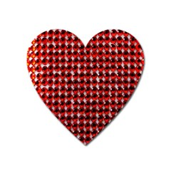 Deep Red Sparkle Bling Large Sticker Magnet (heart) by artattack4all