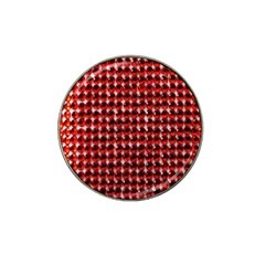 Deep Red Sparkle Bling Golf Ball Marker (for Hat Clip) by artattack4all
