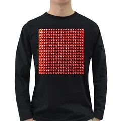 Deep Red Sparkle Bling Dark Colored Long Sleeve Mens'' T Shirt by artattack4all