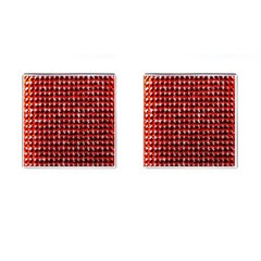 Deep Red Sparkle Bling Square Cuff Links by artattack4all