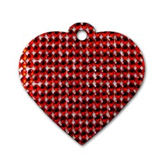 Deep Red Sparkle Bling Twin Sided Dog Tag (heart) by artattack4all