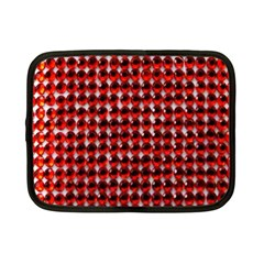 Deep Red Sparkle Bling 7  Netbook Case by artattack4all