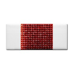 Deep Red Sparkle Bling Hand Towel by artattack4all