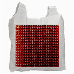 Deep Red Sparkle Bling Twin-sided Reusable Shopping Bag by artattack4all