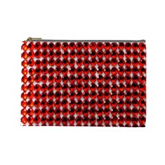 Deep Red Sparkle Bling Large Makeup Purse by artattack4all