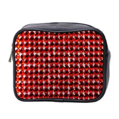 Deep Red Sparkle Bling Twin Sided Cosmetic Case by artattack4all