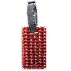 Deep Red Sparkle Bling Twin Sided Luggage Tag by artattack4all