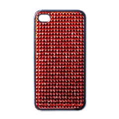 Deep Red Sparkle Bling Black Apple iPhone 4 Case