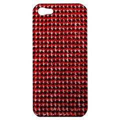 Deep Red Sparkle Bling Apple Iphone 5 Hardshell Case by artattack4all