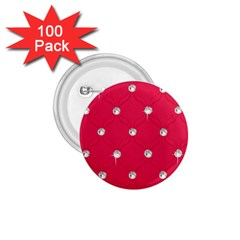 Red Diamond Bling  100 Pack Small Button (round)