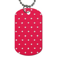 Red Diamond Bling  Single Sided Dog Tag by artattack4all