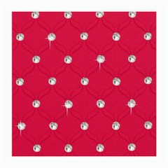 Red Diamond Bling  Twin Sided Large Glasses Cleaning Cloth by artattack4all