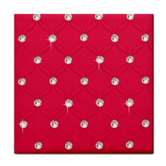 Red Diamond Bling  Face Towel by artattack4all
