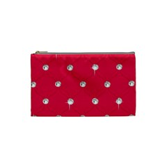 Red Diamond Bling  Small Makeup Purse