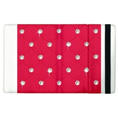 Red Diamond Bling  Apple Ipad 3/4 Flip Case by artattack4all