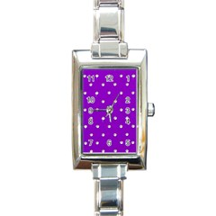 Royal Purple Sparkle Bling Classic Elegant Ladies Watch (rectangle) by artattack4all